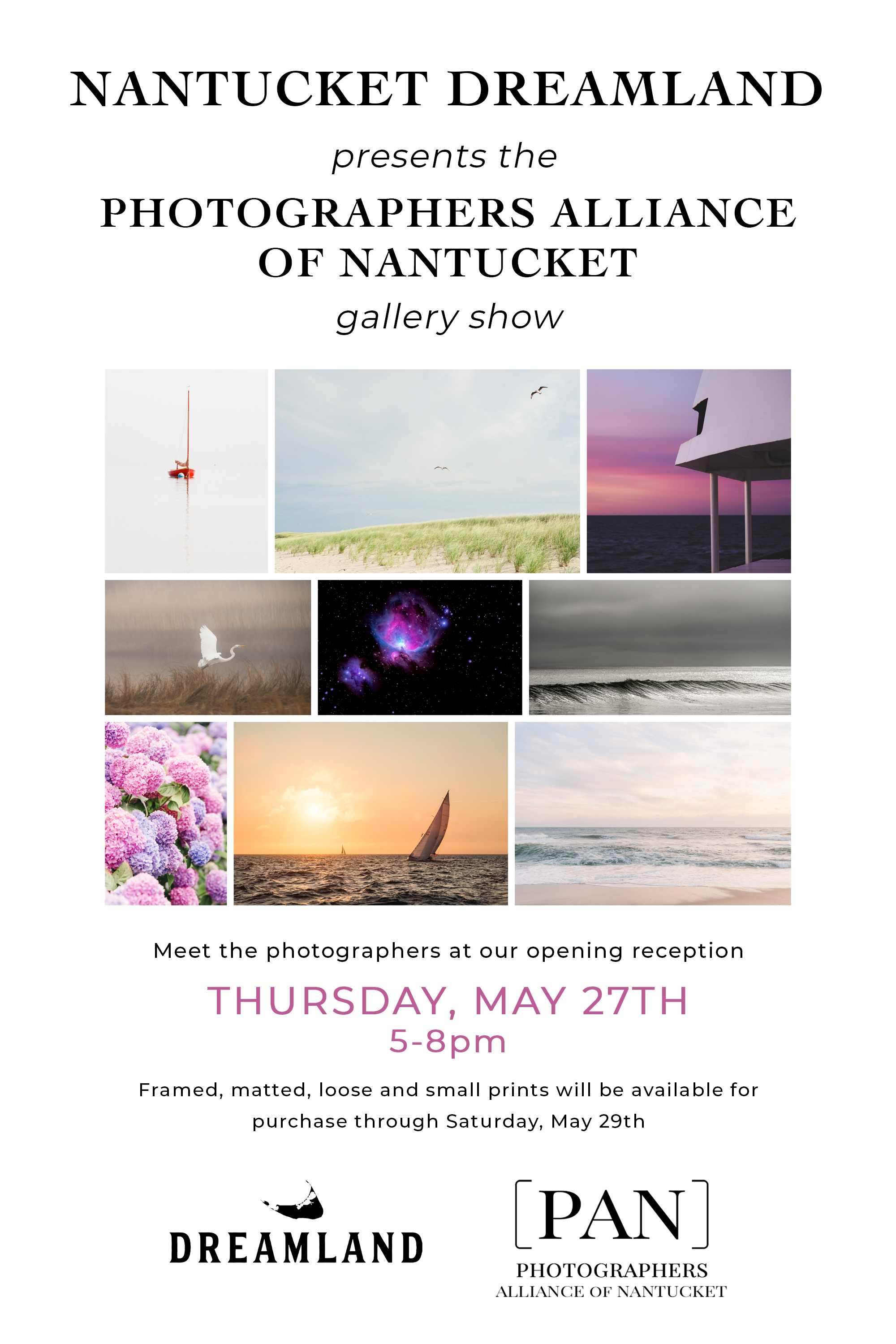 Dreamland Nantucket Gallery Show, May 27-29th, 2021